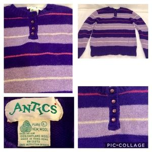 Vintage 60's Sweater by ANTICS 100% Shetland Wool